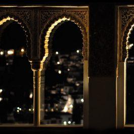 Mirador Alhambra nocturna